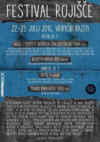 Poletje v Bazenu: FESTIVAL ROJIŠČE!