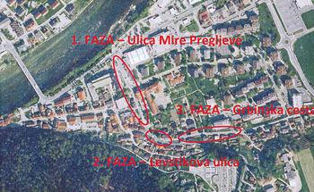 Obvestilo uporabnikom Ulice Mire Pregljeve, Levstikove ulice in Grbinske ceste v Litiji