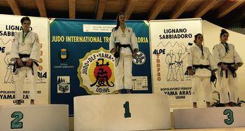 Judoistka Zala Pečoler zmagovalka na turnirju Alpe Adria v Italiji