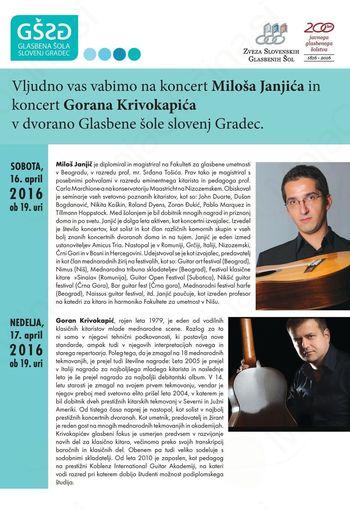 Kitarski koncert Miloš Janjić in Goran Krivokapić