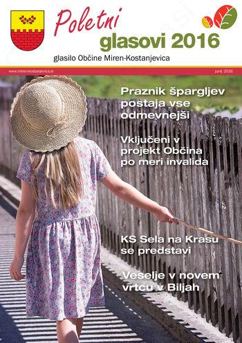 Glasilo Občine Miren-Kostanjevica – Poletni glasovi 2016