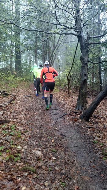 Ogled trase Trail Golte uspel kljub dežju in snegu