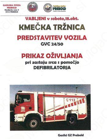 Predstavitev vozila Gasilske zveze Prebold
