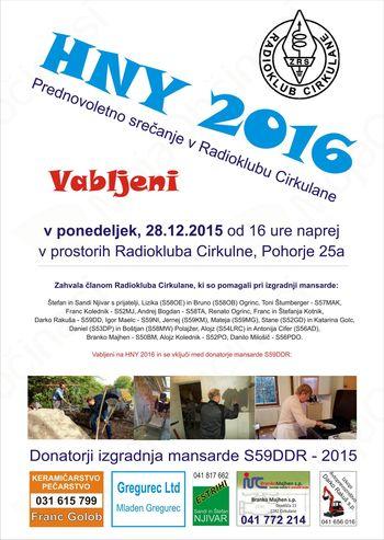 Vabljeni na HNY 2016 v Radioklub Cirkulane S59DDR