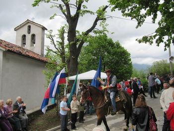 Žegnanje konj na jurjevo v Žapužah