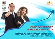 Pomembno obvestilo - skrajšani seminarji na Izobraževalnih dnevih malega gospodarstva 2014