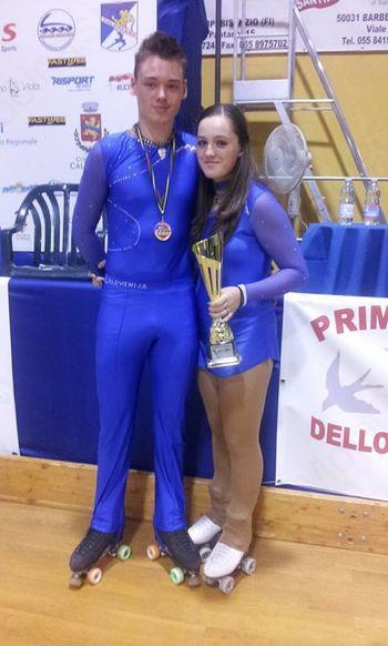Jan Kerševan je v kombinaciji na evropskem prvenstvu v umetnostnem drsanju prejel bronasto medaljo