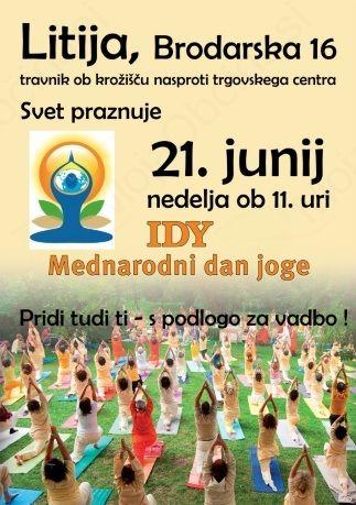 21. junij - mednarodni dan JOGE, bomo počastili tudi v Litiji