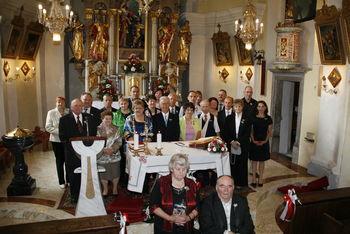 Obletnica zakonskih jubilantov v cerkvi svetega Tomaža v Krašnji