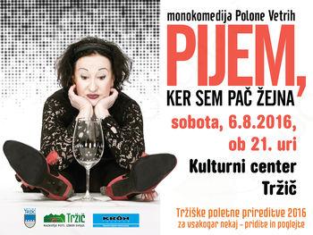 Žlahtna komedijantka Polona Vetrih prihaja v Tržič
