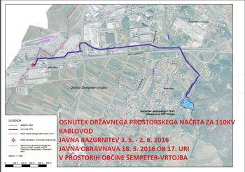 Javno naznanilo o javni razgrnitvi osnutka državnega prostorskega načrta za  110 kV kablovod od RTP 110/20 kV Vrtojba do slovensko-italijanske meje pri MMP Vrtojba