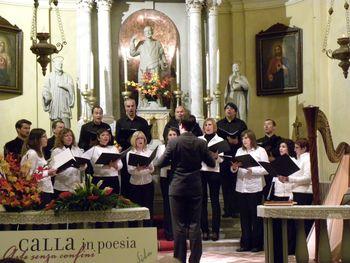 Pevski zbor Sveti Anton na koncertuv Kalu