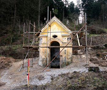 Obnova kapelice v Verdu