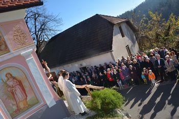 V Žažarju so obnovili staro kapelico