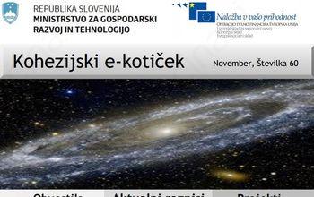Novembrska številka Kohezijskega e-kotička