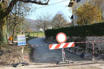 Sanacija in posodobitev ceste v vasi Sužid