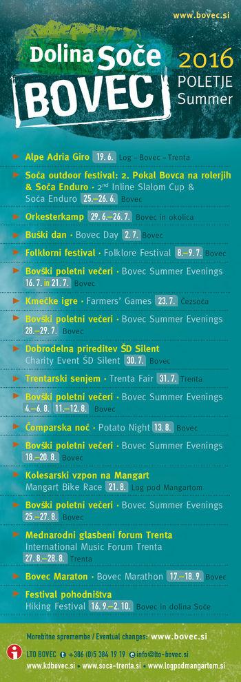 Koledar poletnih prireditev