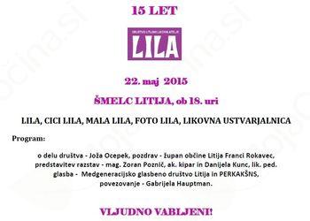 15. rojstni dan Litijskega likovnega ateljeja, 22.5.2015