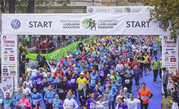 20. ljubljanski maraton zaznamovala tudi atleta iz naših koncev