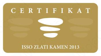 Certifikat ISSO Zlati kamen 2013