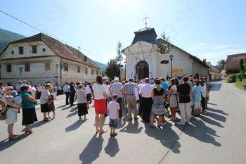 Blagoslov Lurške kapele v Borovnici