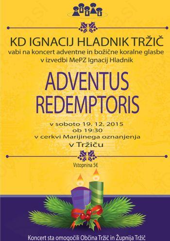 Koncert božične koralne glasbe ADVENTUS REDEMPTORIS