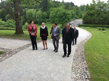 Obisk ministra Borisa Koprivnikarja na gradu Bogenšperk