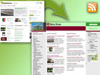 Spletna stran Občine Vojnik prva v Sloveniji prevzela RSS sistem novic s portala MojaObcina.si