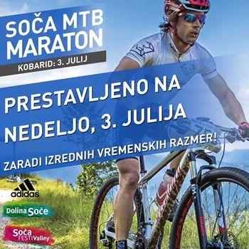 SOČA MTB MARATON prestavljen na 3. julij 2016