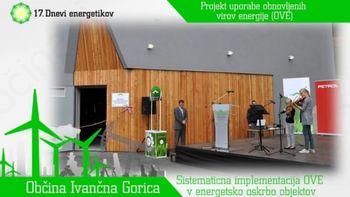 Občina Ivančna Gorica se poteguje za najboljši projekt obnovljivih virov energije