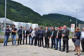 Slovesno odprtje izgradnje komunalne infrastrukture Obrtne cone Konus