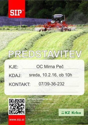 Predstavitev SIP Strojne industrije v OC Mirna Peč, KZ Krka