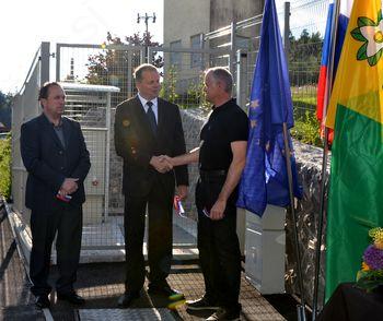 Z javnim odprtjem zaznamovali zaključek gradnje kanalizacije in čistilne naprave v Brezju
