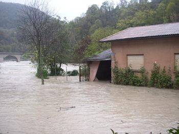 Poplave 2012: Še dobro, da je bila hiša prazna