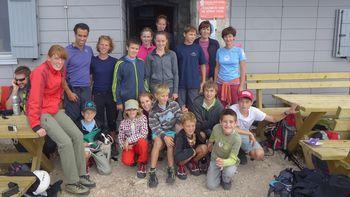 Mladi planinci na Kriških podih