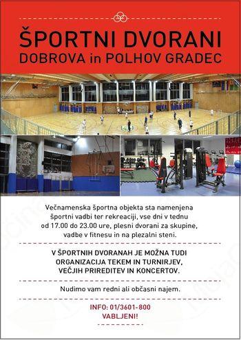 Športni dvorani Dobrova in Polhov Gradec
