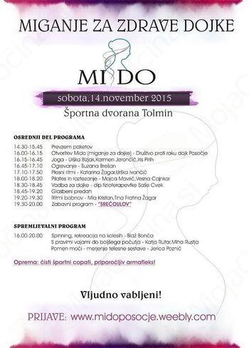 Dobrodelna prireditev MI-DO ( MIganje za zdrave DOjke)