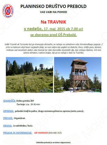 Pohod na Travnik