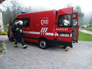 Kriškim gasilcem ukradli vozilo