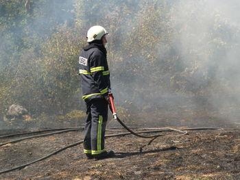 Požar pri vasi Klečet
