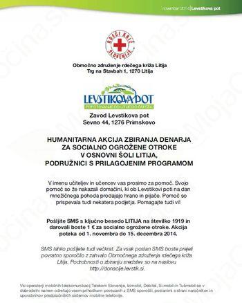 Zbiranje za socialno ogrožene otroke: 900 evrov v humanitarne namene