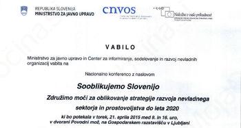 Vabilo na nacionalno konferenco - Sooblikujemo Slovenijo