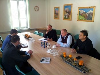 Župan Občine Kluže Fabrizio Fuccara na obisku v Kobaridu