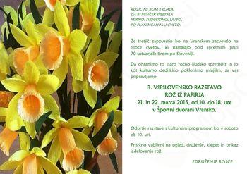 3. vseslovenska razstava rož iz papirja