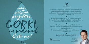 Predstavitev projektov GORKI in vodovod Bašelj-Kranj