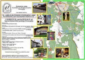 10. pohod iz Grosupljega k Županovi jami po evropski pešpoti E6