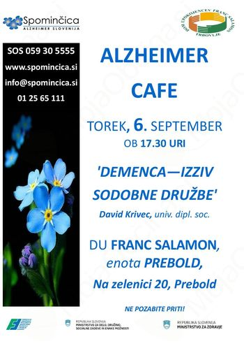 Alzheimer Cafe -Demenca - izziv sodobne družbe