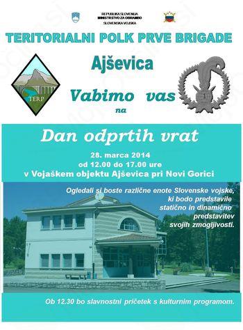 Dan odprtih vrat v Vojaškem objektu Ajševica pri Novi Gorici