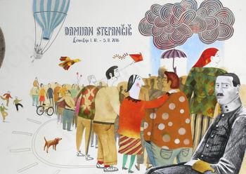 Priznani slovenski ilustrator Damijan Stepančič bo razstavljal v Lični hiši