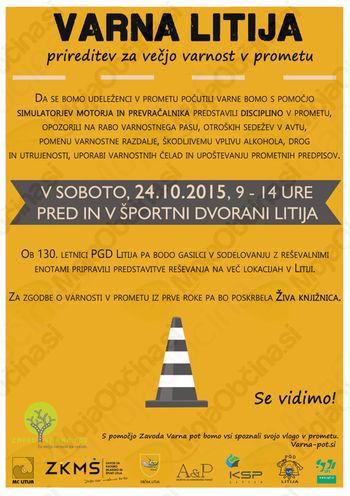 Preventivni dogodek za varnost v prometu VARNA LITIJA